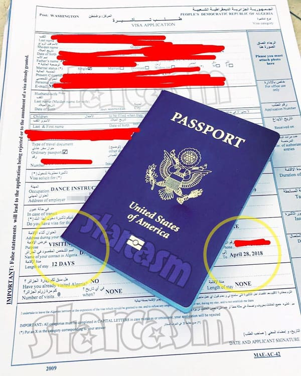 90 Day Fiance Before the 90 Days Marta passport Algeria visa paperwork to visit Daya