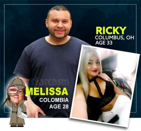90 Day Fiance Before the 90 Days_Ricky Melissa catfish evidence