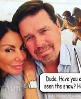 Danielle Staub Marty Caffrey split up angel on the shoulder meme