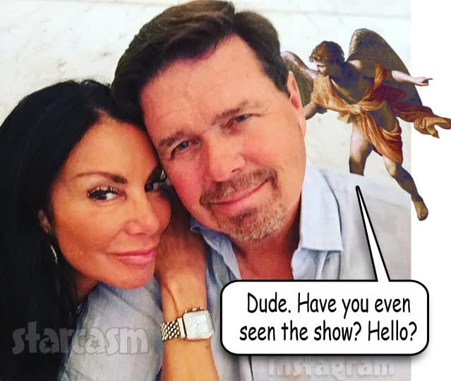 Danielle Staub Marty Caffrey split up angel on the shoulder meme