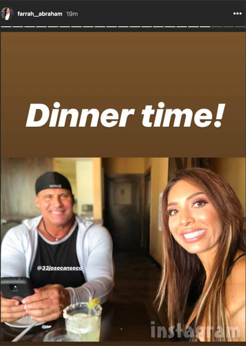 Farrah Abraham with Jose Canseco