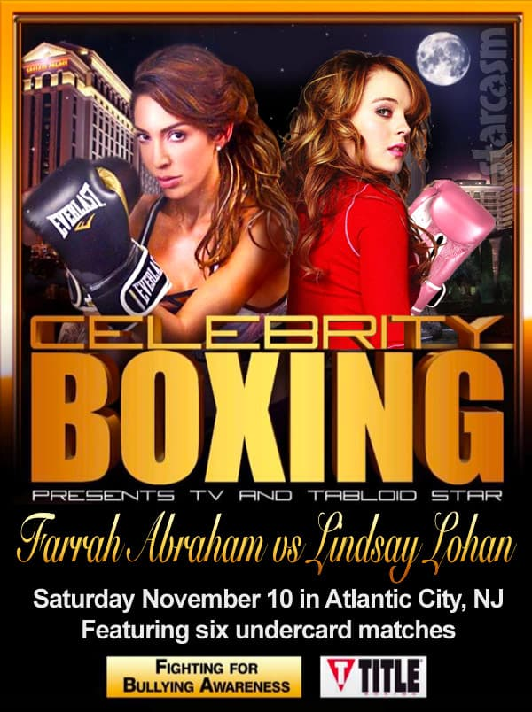 Farrah Abraham Lindsay Lohan celebrity boxing match poster