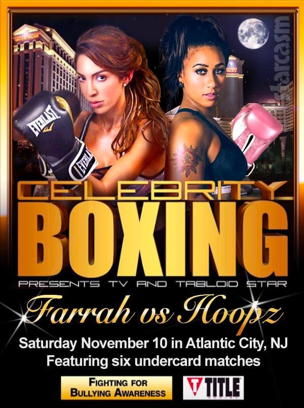 Farrah Abraham Nicole Hoopz Alexander celebrity boxing match poster