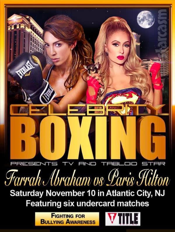 Farrah Abraham Paris Hilton celebrity boxing match poster