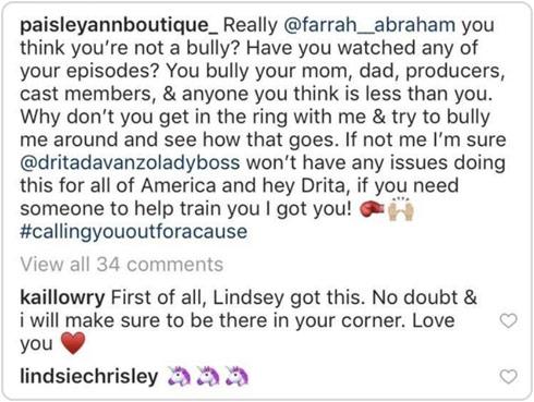 Lindsey Nicholson Farrah Abraham boxing challenge