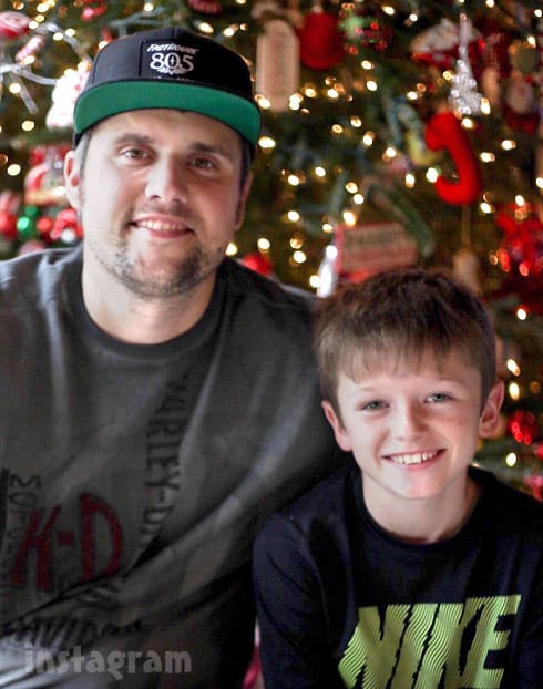 Ryan Edwards and son Bentley