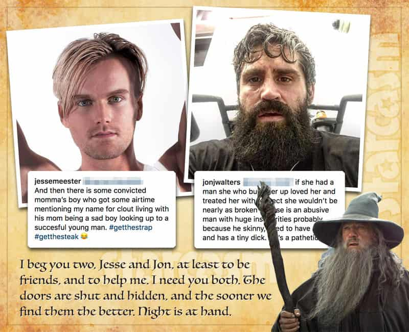 90 Day Fiance Before the 90 Days Jon Jesse and Jesse feud Gandalf Gimlit and Legolas quote