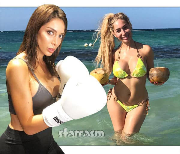 Farrah Abraham boxing breast implants
