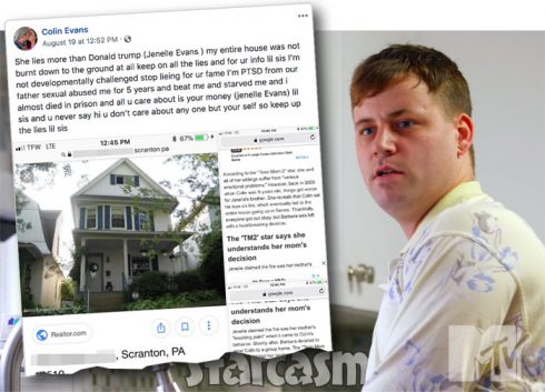 Jenelle Eason's brother Colin Evans Facebook post about sexual abuse