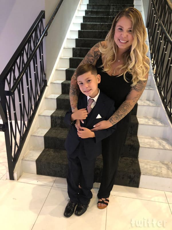 Kail Lowry and son Isaac at Jo and Vee's wedding