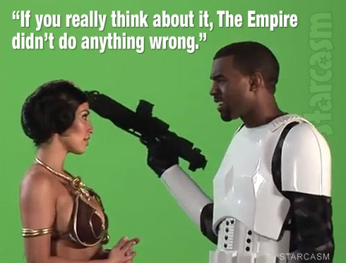 Kanye West Kim Kardashian Princess Leia stormtrooper The Empire did nothing wrong
