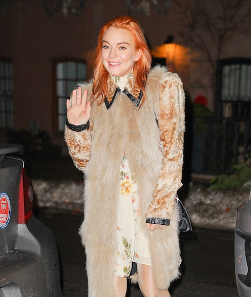 Lindsay Lohan dancing