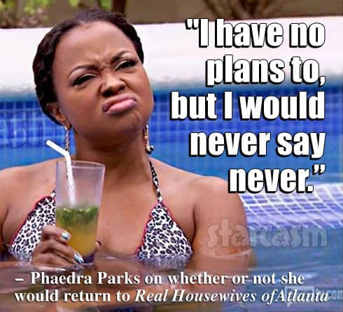 Phaedra Parks on returning to Real Housewives of Atlanta