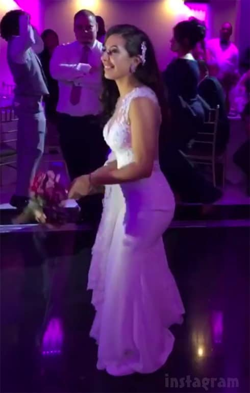 Teen Mom 2 Vee wedding throwing bouqet