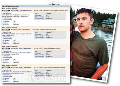 Teen Mom Bristol Palin's brother Track Palin arrested again for domestic violence