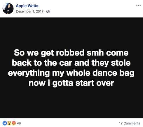 Why did Apple Watts go to jail 2017 2
