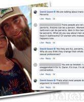 Teen Mom 2 Jenelle's husband David Eason transgender quotes on Facebook