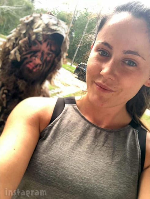 Jenelle and David Eason wearing camo