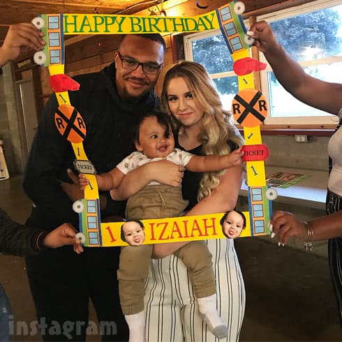 Teen Mom Young and Pregnant Kayla Sessler Izaiah's 1st birthday with Luke