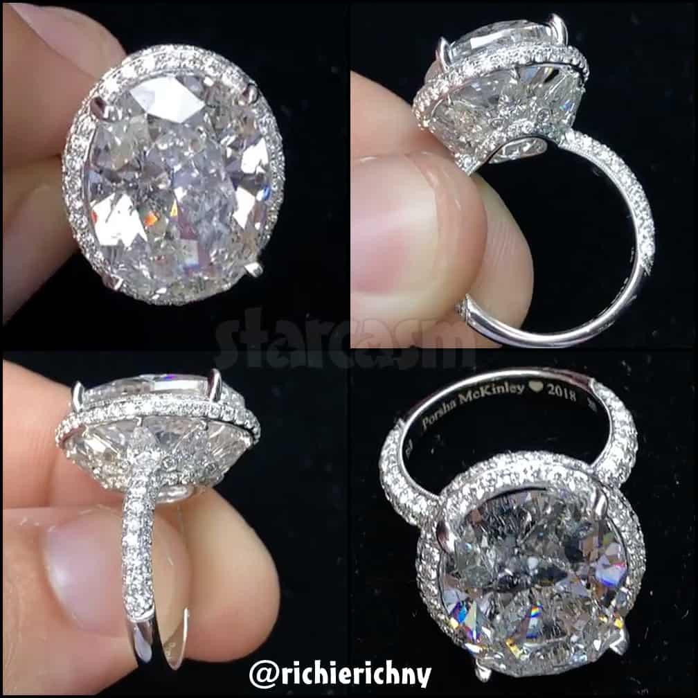 Porsha Williams engagement ring photos