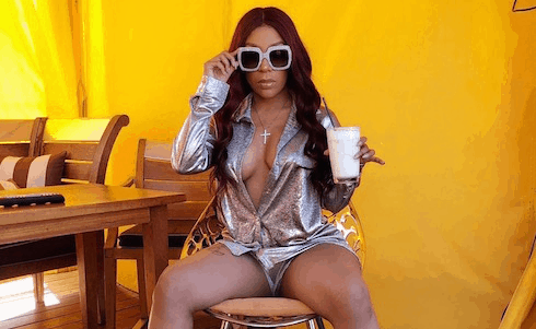 K Michelle high on Love & Hip Hop 2