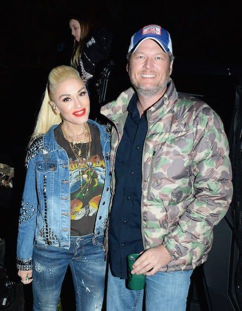 Gwen and Blake gossip