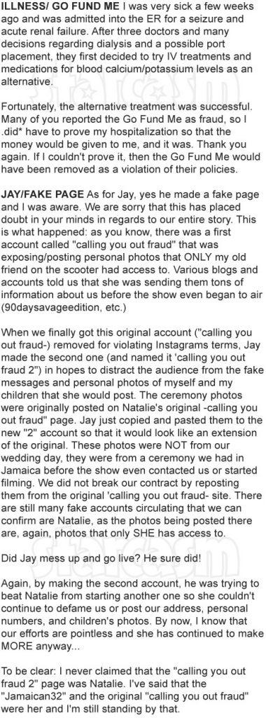 90 Day Fiance Ashley says Jay split fake, clarifies
