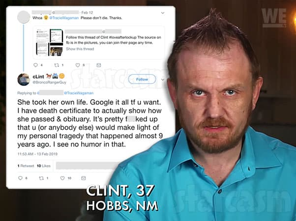 Love After Lockup Clint Brady's second wife Amber suicide statement