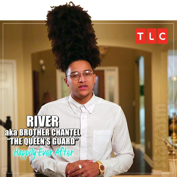 90 Day Fiance Happily Ever After Chantel's brother River with hair like the Queen's Guard