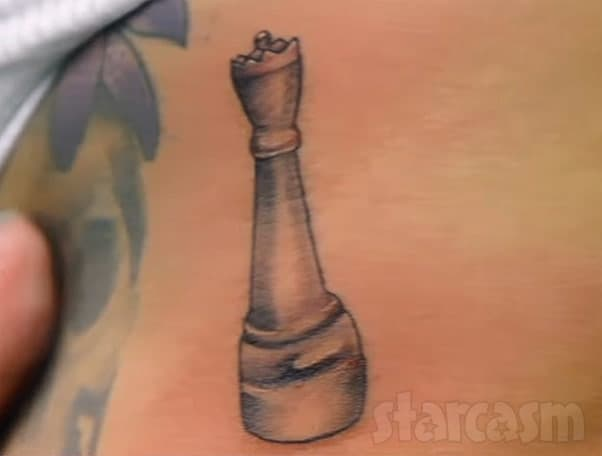Briana DeJesus matching queen chess piece tattoo she got with Javi