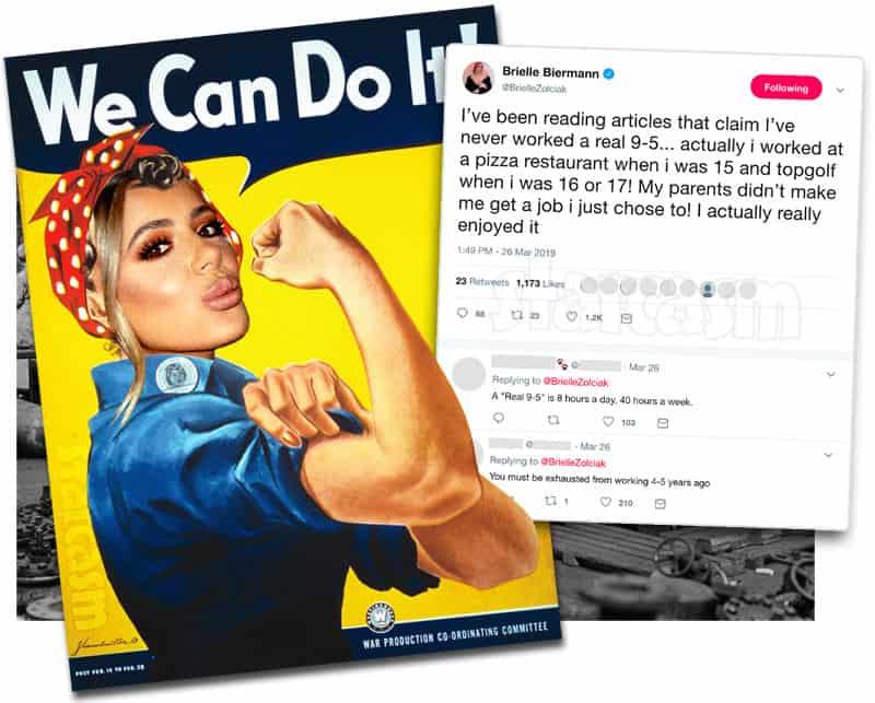 Kim Zolciak's daughter Brielle Biermann Rosie the Riveter meme