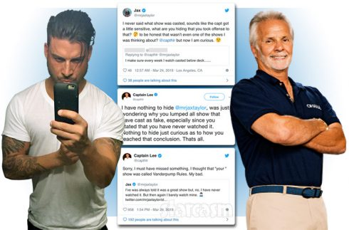 Below Deck Captain Lee Rosbach and Vanderpump Rules Jax Taylor feud on Twitter