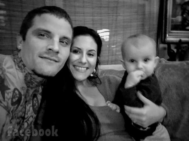 Teen Mom 2 Jenelle Eason's ex-husband Courtland Rogers with wife Lindsey and son Camryn 2019