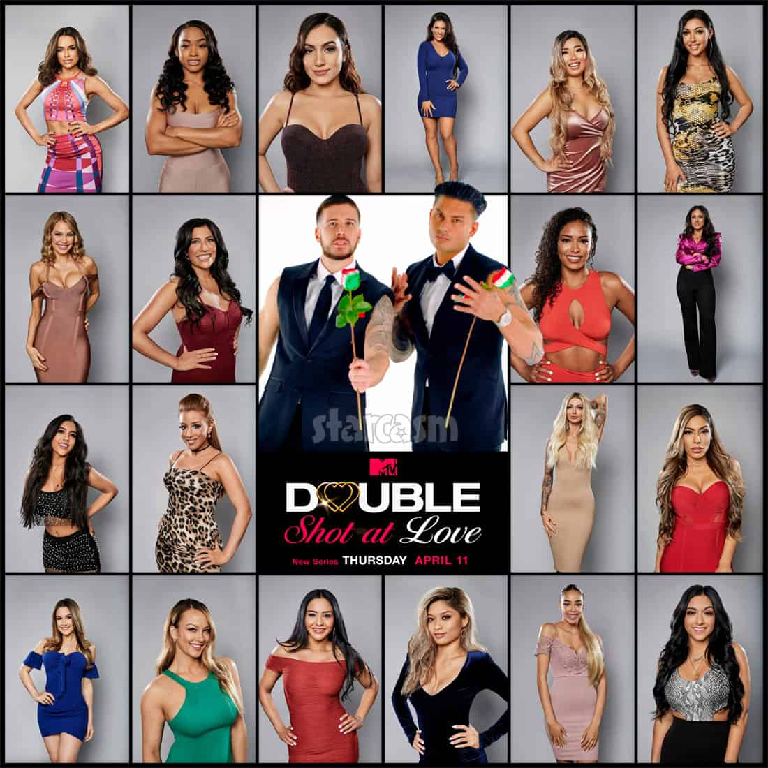 MTV Double Shot At Love With Pauly D and Vinny cast
