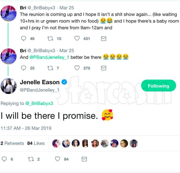 Teen Mom 2 Jenelle Eason and Briana DeJesus Reunion tweets