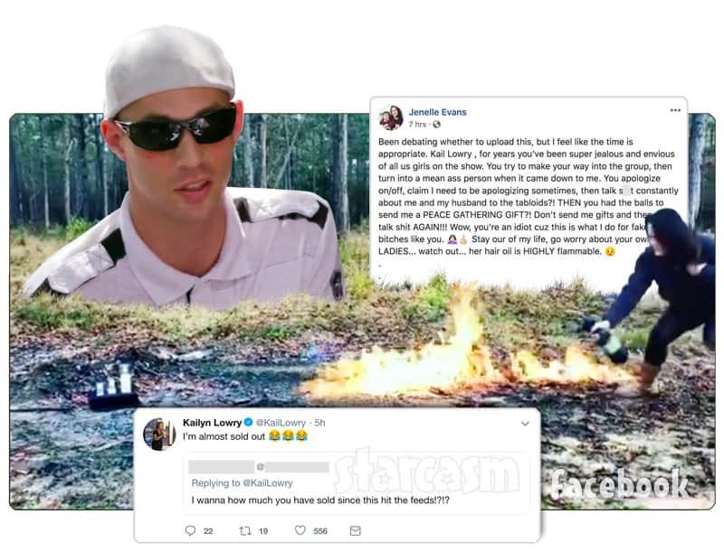 Teen Mom 2 Jenelle Eason burns Kail Lowry Pothead gift set Andrew Lewis returns