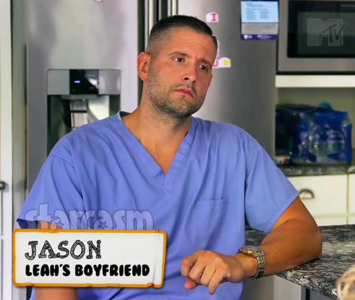 Teen Mom 2 Leah Messer boyfriend Jason Jordan wearing scrubs for his job