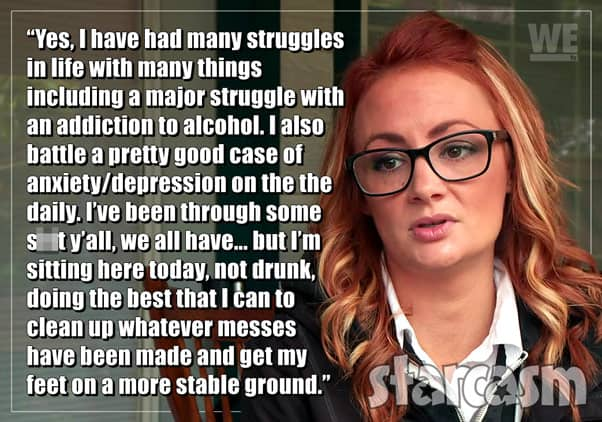 Love After Lockup Caitlin update quote about alcohol addiction