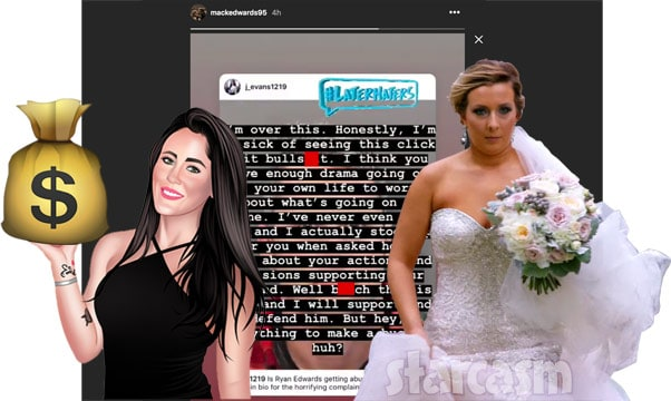 Ryan Edwards' sife Mackenzie Edwards and Jenelle Eason feud over clickbait article