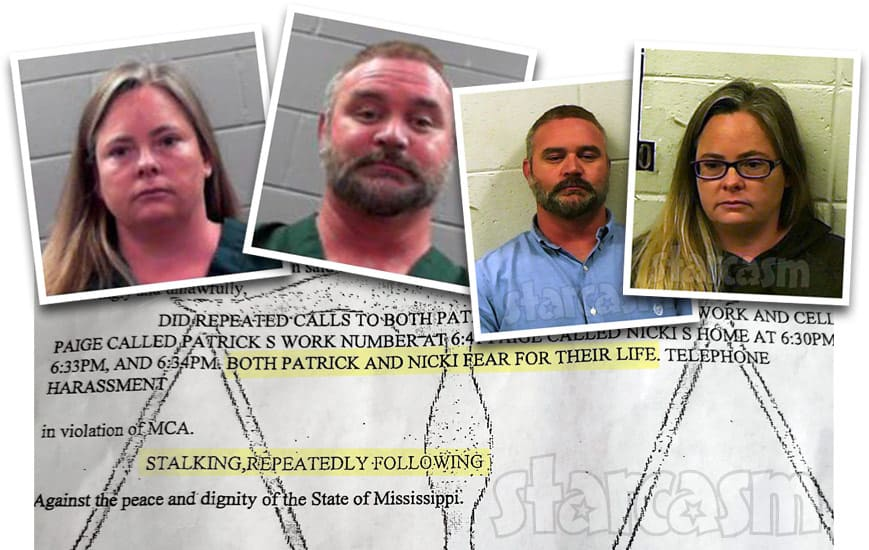 Seeking Sister Wife Bernie McGee and Paige McGee arrest affidavit for stalking arrest