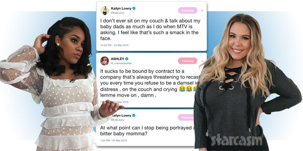 Teen Mom Kail Lowry Ashley Jones tweets about MTV
