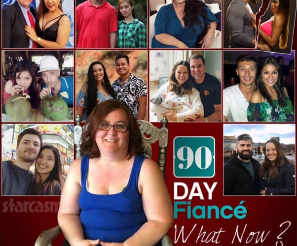 TLC GO 90 Day Fiance What Now? Season 3 cast photo with Danielle, Daivd and Annie, Tarik and Hazel, Molly, Jonathan and Fernanda, Larry and Jenny, Kalani and Asuelu, Alan and Kirlyam, Loren and Alexei, Noon and Huck, and Jon and Rachel