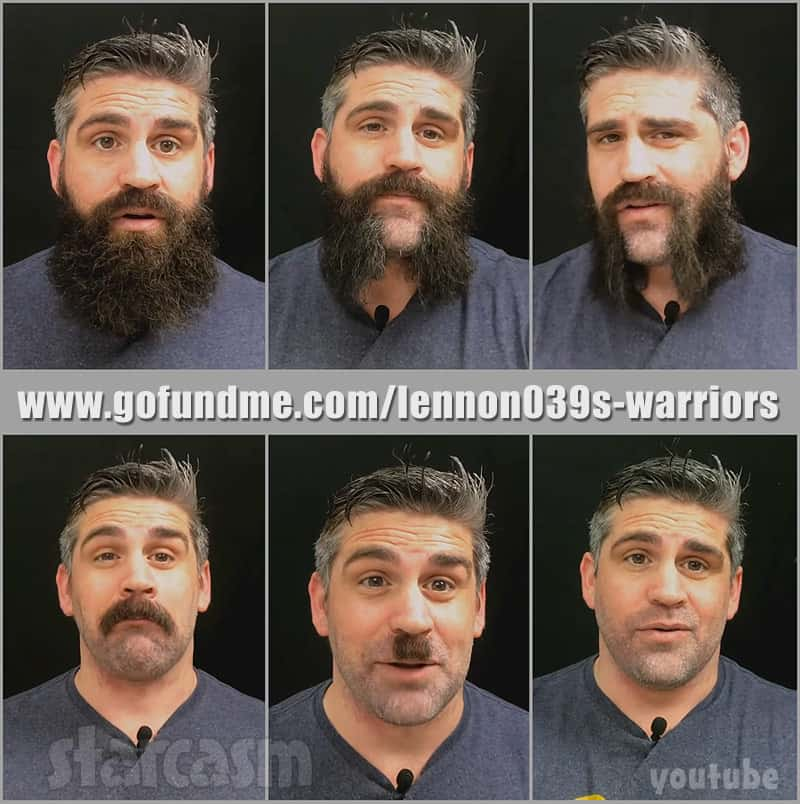 Before the 90 Days Jon Walters shaves beard for sick child fundraiser