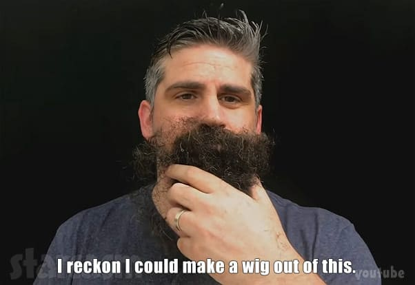 Before the 90 Days Jon Walters beard wig