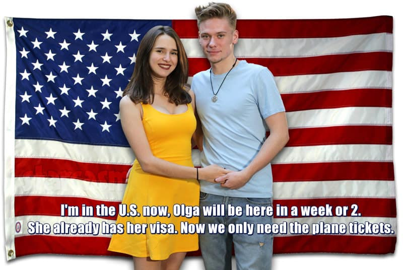 90 Day Fiance Steven and Olga update - her K-1 visa approved, will be in the United States soon
