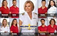 Below Deck Mediterranean Season 4 cast Captain Sandy, Hannah, João, Colin, Mila, Aesha, Anastasia, Travis, Jack