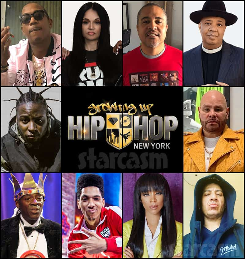 WE tv Growing Up Hip Hop New York cast with Ja Rule Irv Gotti Fat Joe Flavor Flav Rev Run Lil Mama and more