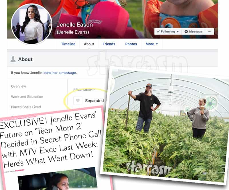 Teen Mom 2 Jenelle and David Eason break up again? Growing pot on The Land?