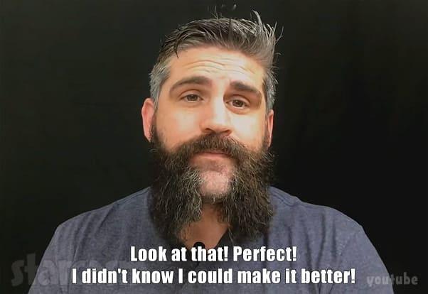 Jon Walters shaving his beard
