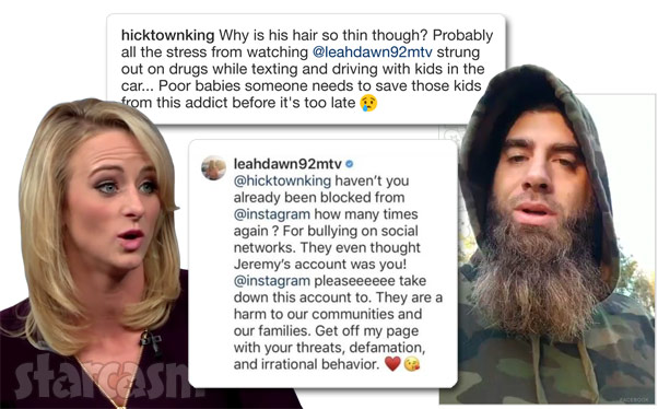 Teen Mom 2 Leah Messer David Eason feud on Instagram
